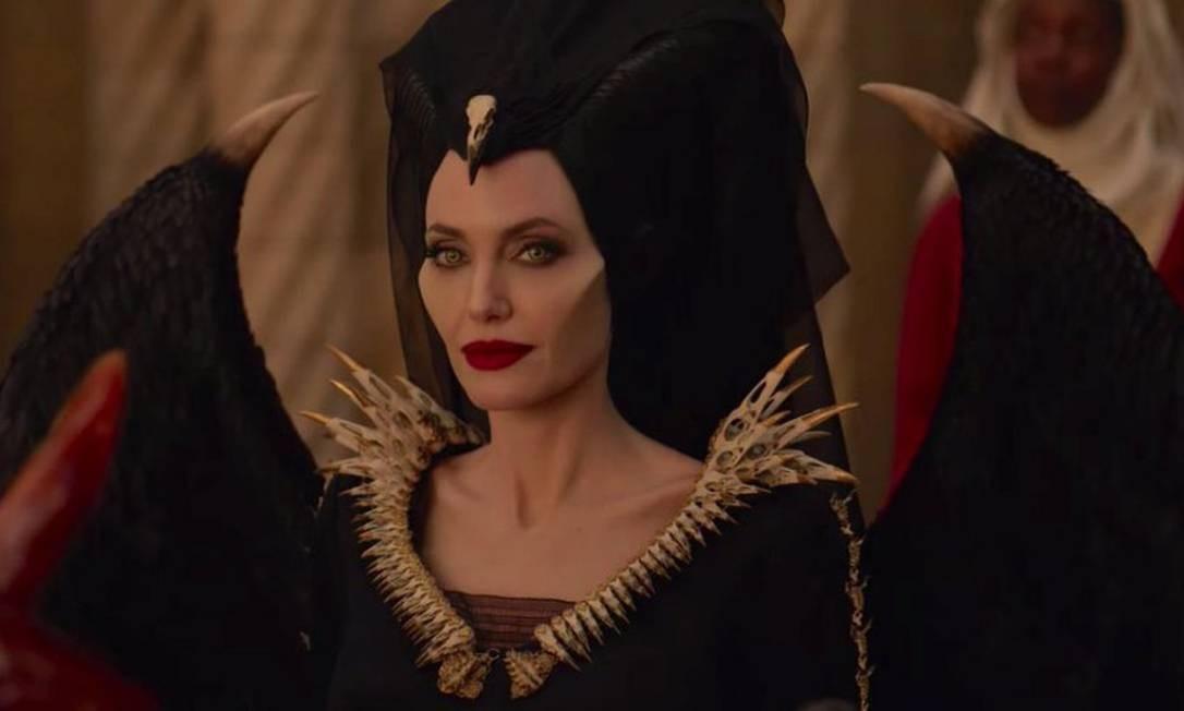 """RS - Angelina Jolie em cena do filme """"Malévola - Dona do mal"""" Foto: Dvulgação"""