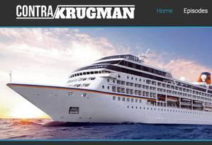 Propaganda sobre o cruseiro anti-Krugman Foto: Reprodução da internet