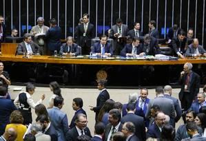 Sessão na Câmara dos Deputados Foto: Pablo Valadares / Câmara dos Deputados