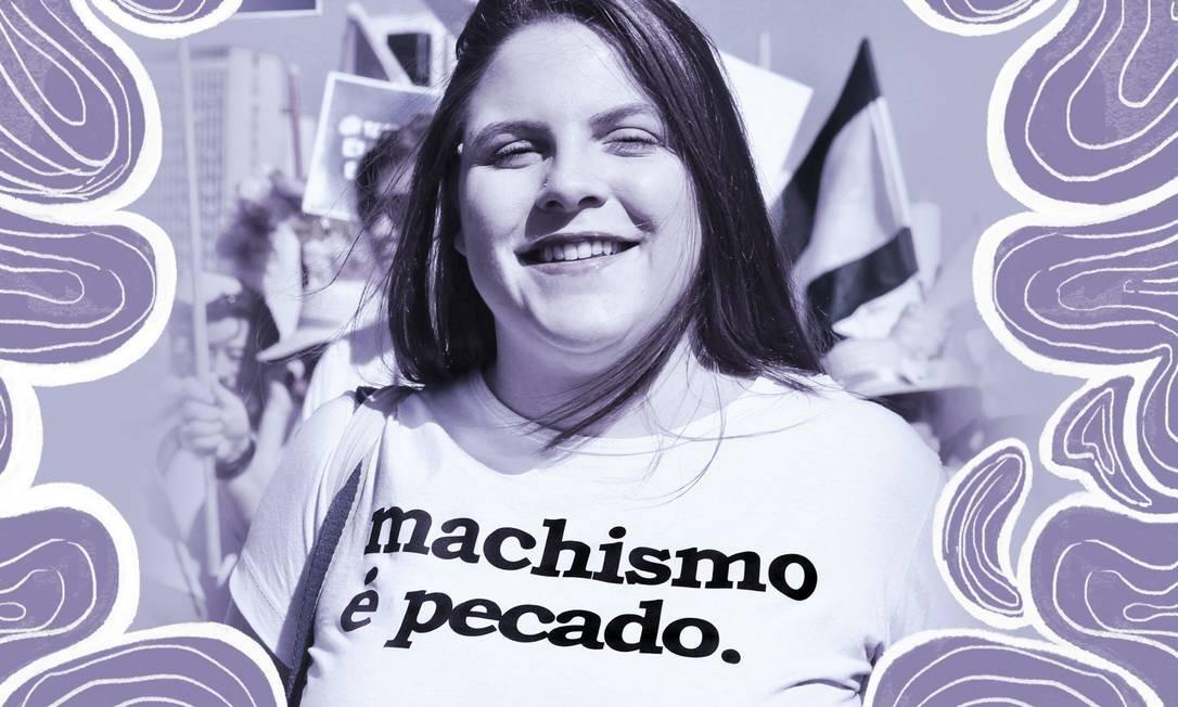 """Tabata Tesser é uma das autoras do livro recém-lançado """"Teologias fora do armário: teologia, gênero e diversidade sexual"""" Foto: Arte sobre foto de Nathalia Blanco/Koinonia"""