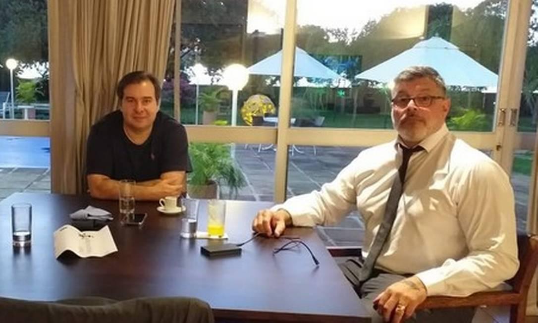 Rodrigo Maia e Alexandre Frota Foto: Reprodução