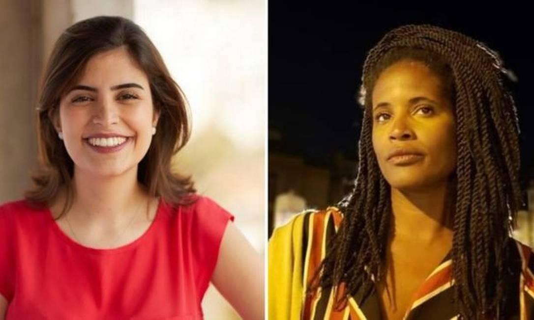 A deputada Tábata Amaral e a filósofa Djamila Ribeiro são as representantes brasileiras na edição de 2019 do 100 Mulheres Foto: BBC