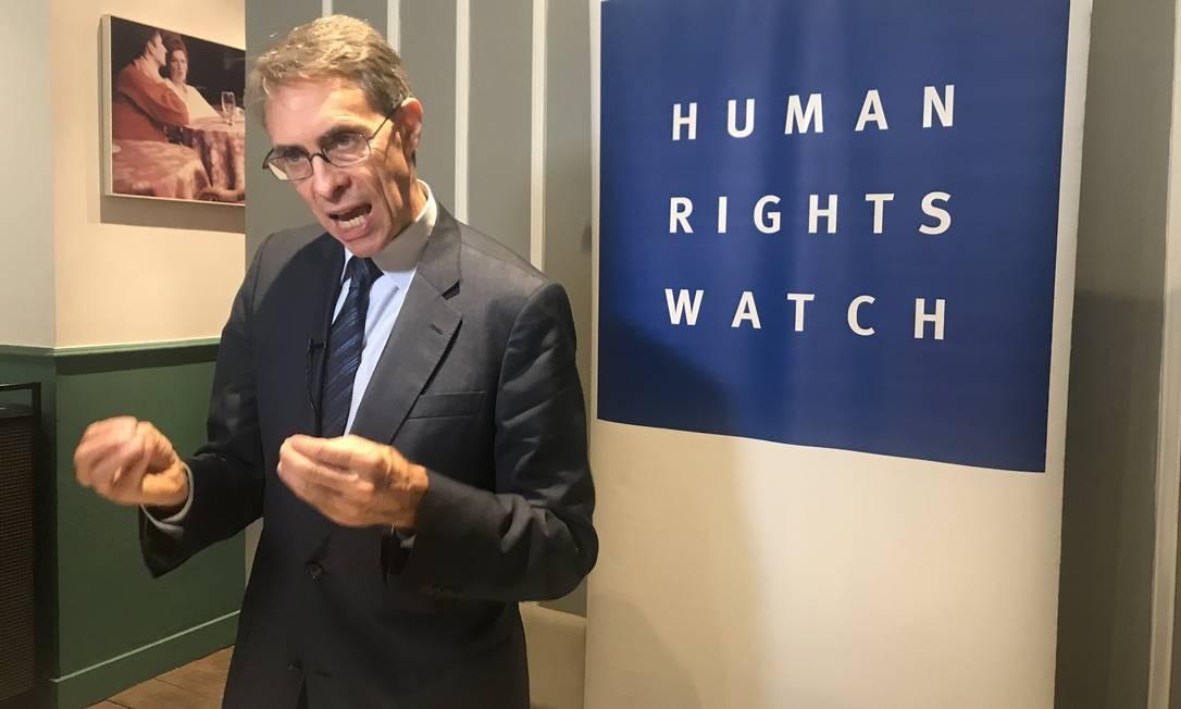 Kenneth Roth cobra do ministro das Relações Exteriores posição diante de eleição para conselho de Direitos Humanos da ONU Foto: Ana Letícia Leão/O Globo