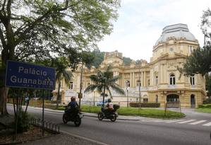 Fachada do Palácio Guanabara, sede do governo do estado Foto: Fabiano Rocha / Agência O Globo