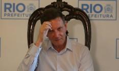 Desde que assumiu o governo, Crivella assiste à deterioração das contas. O rombo fiscal não para de crescer Foto: Guilherme Pinto / Agência O GLOBO