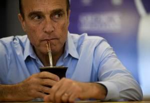 Daniel Martinez da Frente Ampla: 33% das intenções de voto Foto: EITAN ABRAMOVICH / AFP