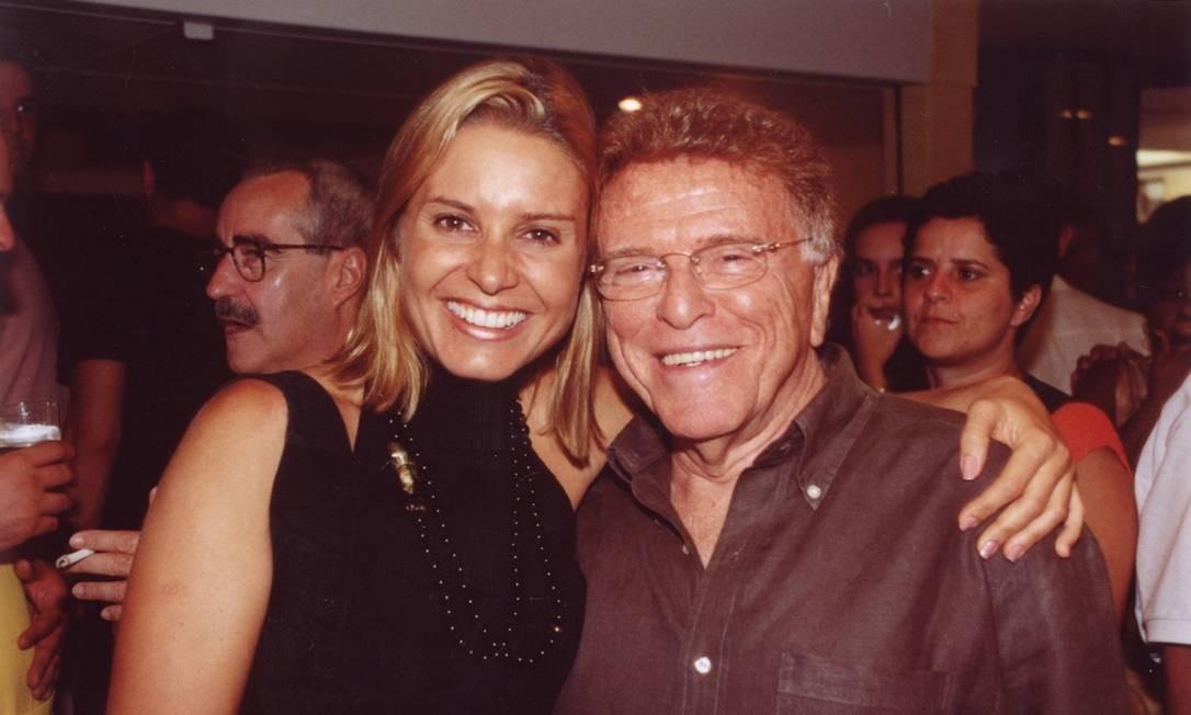A atriz Paula Burlamaqui e Mauricio Sherman Foto: Paulo Jabur / Divulgação