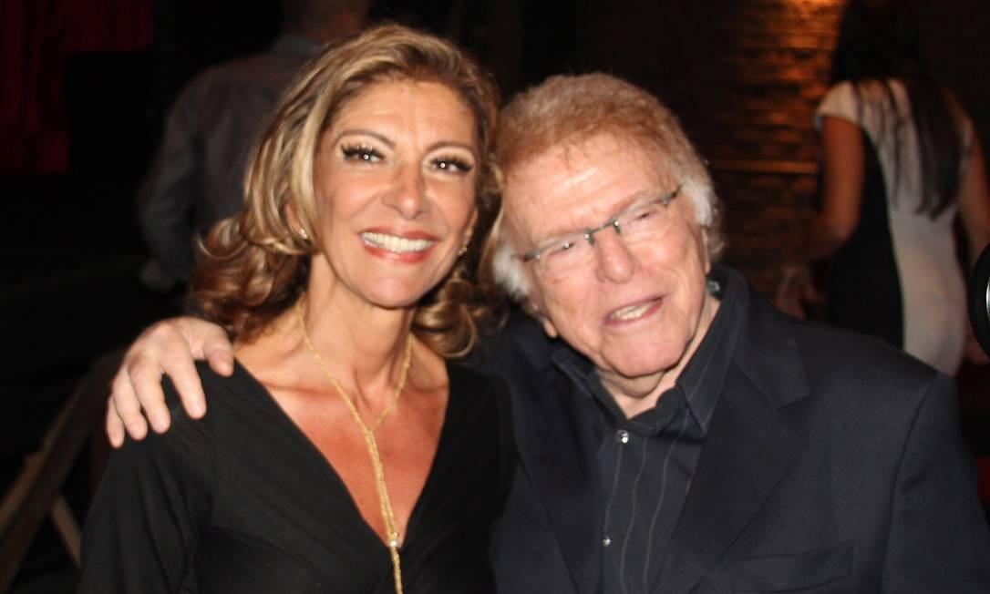O diretor Maurício Sherman com a atriz Marília Pêra Foto: Divulgação