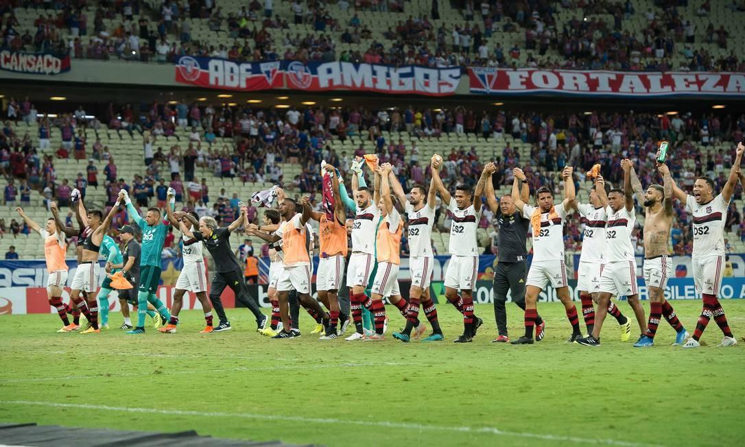 Flamengo unido em busca do título Foto: Divulgação