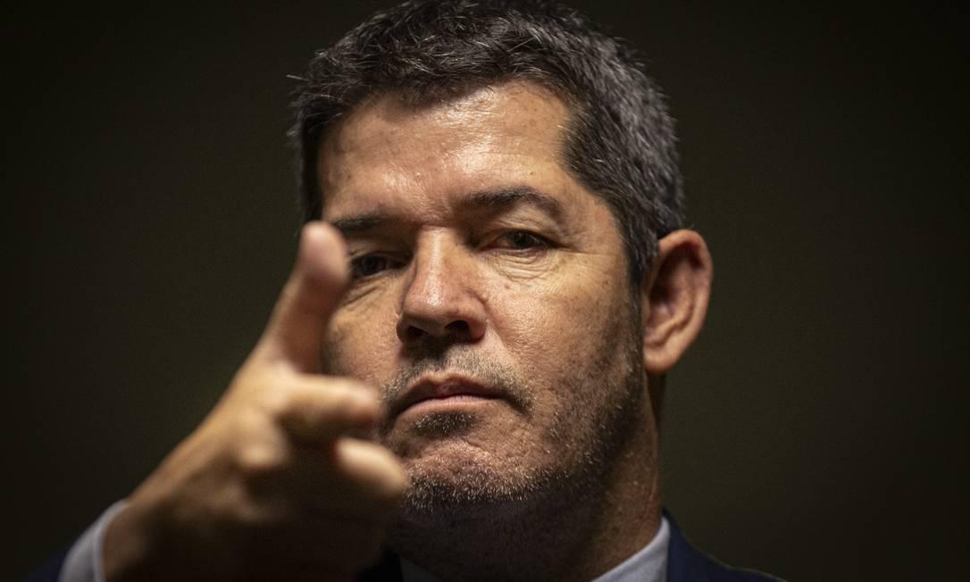 O lider do PSL na Câmara, o deputado Delegado Waldir (PSL-GO) Foto: Daniel Marenco / Agência O Globo