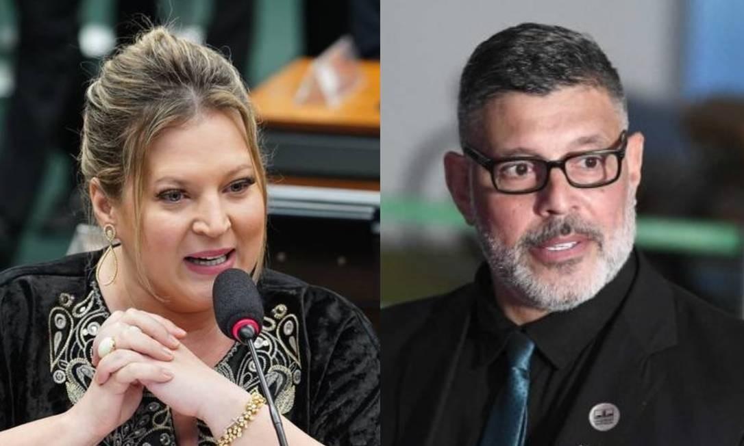 Joice Hasselmann e Alexandre Frota Foto: Pablo Valadares/Câmara dos Deputados e Edilson Rodrigues/Agência Senado