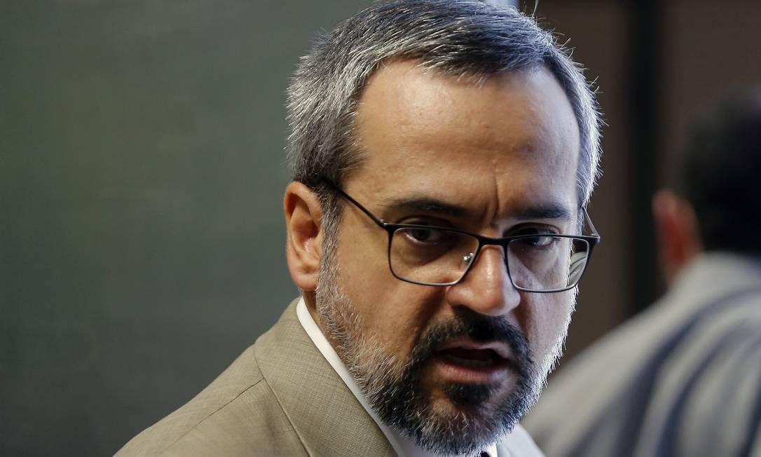 Abraham Weintraub, ministro da Educação Foto: Jorge William / Agência O Globo