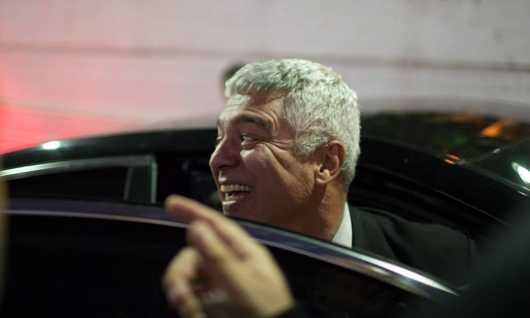 O senador Major Olímpio (PSL-SP) defende a saída imediata de Eduardo Bolsonaro do comando do PSL em São Paulo. Senador é aliado de Luciano Bivar Foto: Edilson Dantas / Agência O Globo