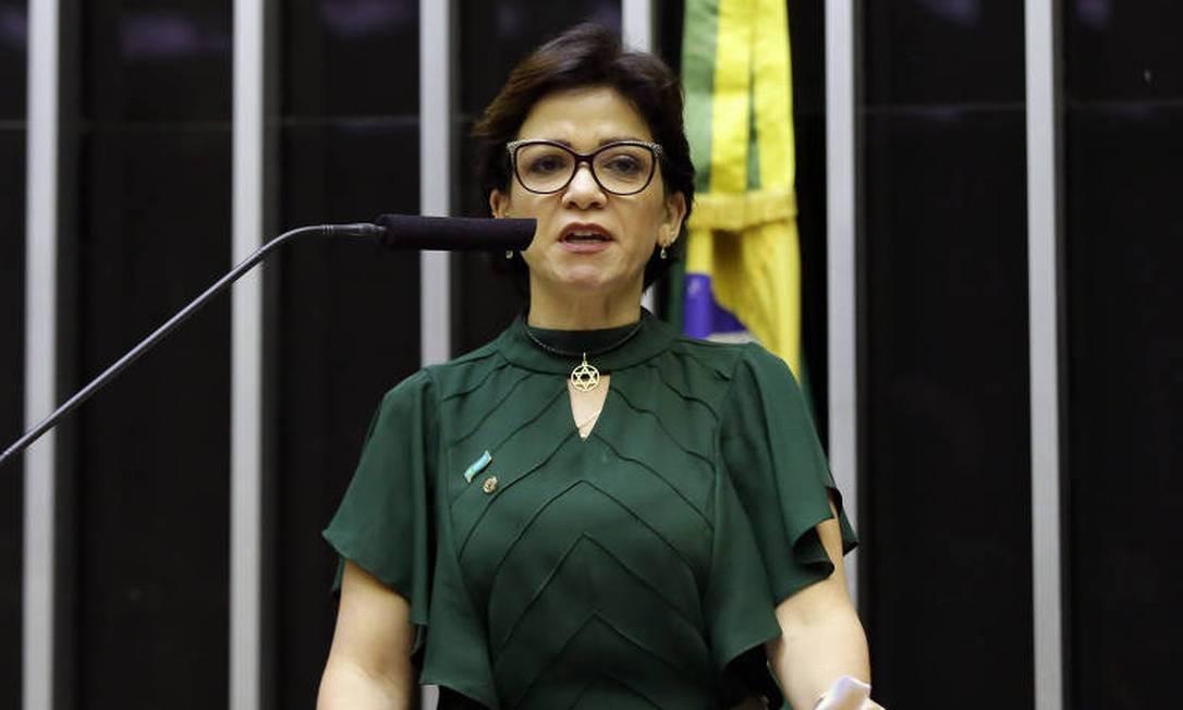 """Deputada Alê Silva (PSL-MG) também foi suspensa pela presidência do PSL. Deputada divulgou lista com nomes da bancada do partido que estariam na """"guerra das listas"""" da briga pela liderança do PSL na Câmara dos Deputados Foto: Najara Araújo / Agência Câmara Notícias"""
