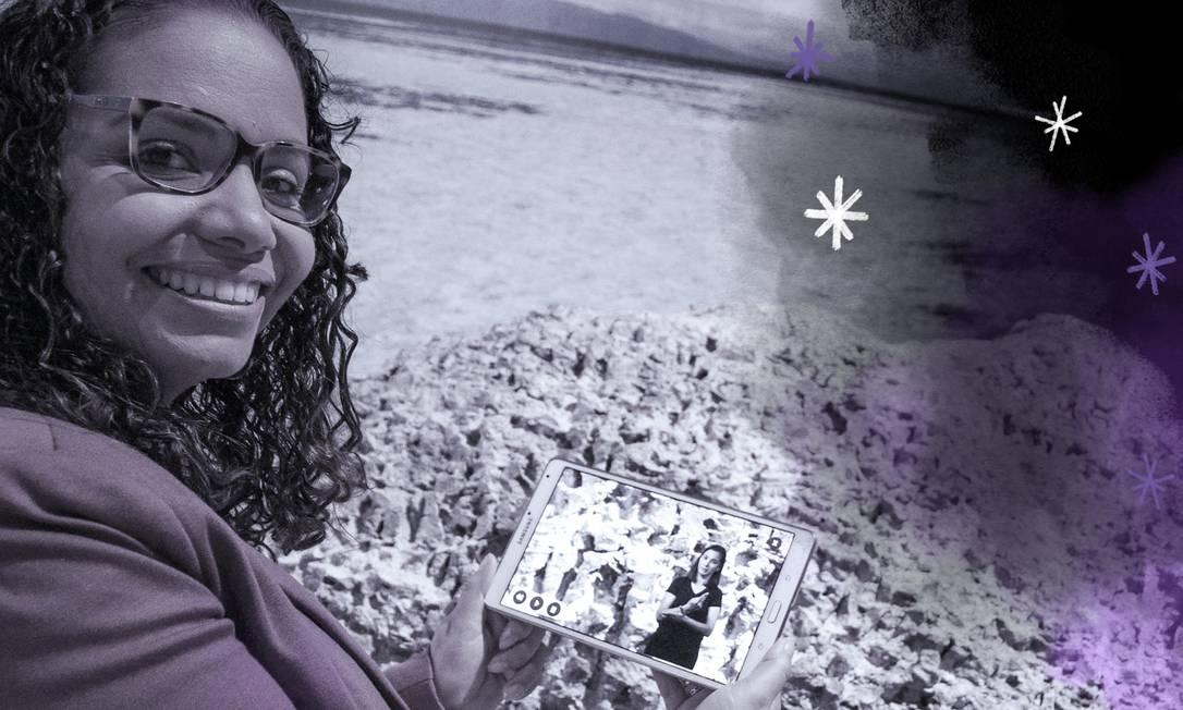 Priscyla foi selecionada para o programa Mulheres na Ciência e Inovação pelo seu trabalho em desenvolver um aplicativo que possibilita o acesso de surdos a conteúdo de exposições em museus Foto: Arte sobre foto de Divulgação/Coppe/UFRJ