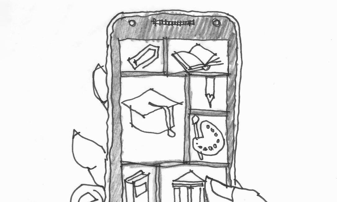 Por que a tecnologia 'não funciona' na escola? Foto: Jorge Cerqueira / @desenhosdequinta