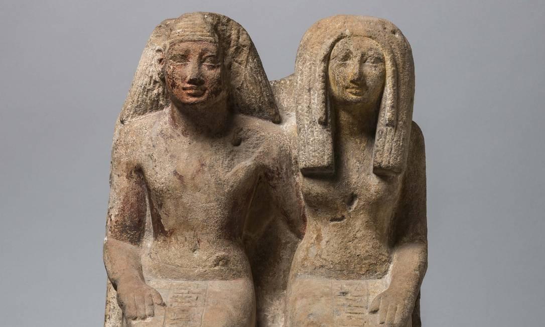 """Escultura egípcia datada do ano 67 a.C. na exposição """"Egito antigo"""", em cartaz no CCBB Foto: Divulgação"""