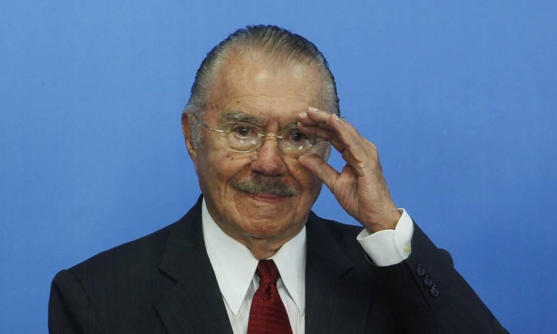 Ex-presidente José Sarney Foto: Givaldo Barbosa/Agência O Globo