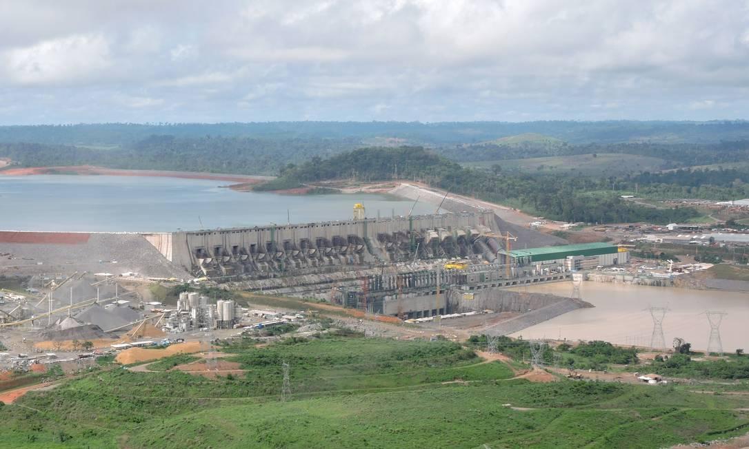 Vista aérea da usina de Belo Monte, no Pará: país vive uma das maiores secas nas regiões das principais hidrelétricas nos últimos 90 anos Foto: Divulgação/29-1-2016