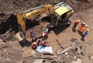 Corpo da 252ª vítima da tragédia de Brumadinho é encontrado na área conhecida como Remanso 3 Foto: Divulgação/Corpo de Bombeiros