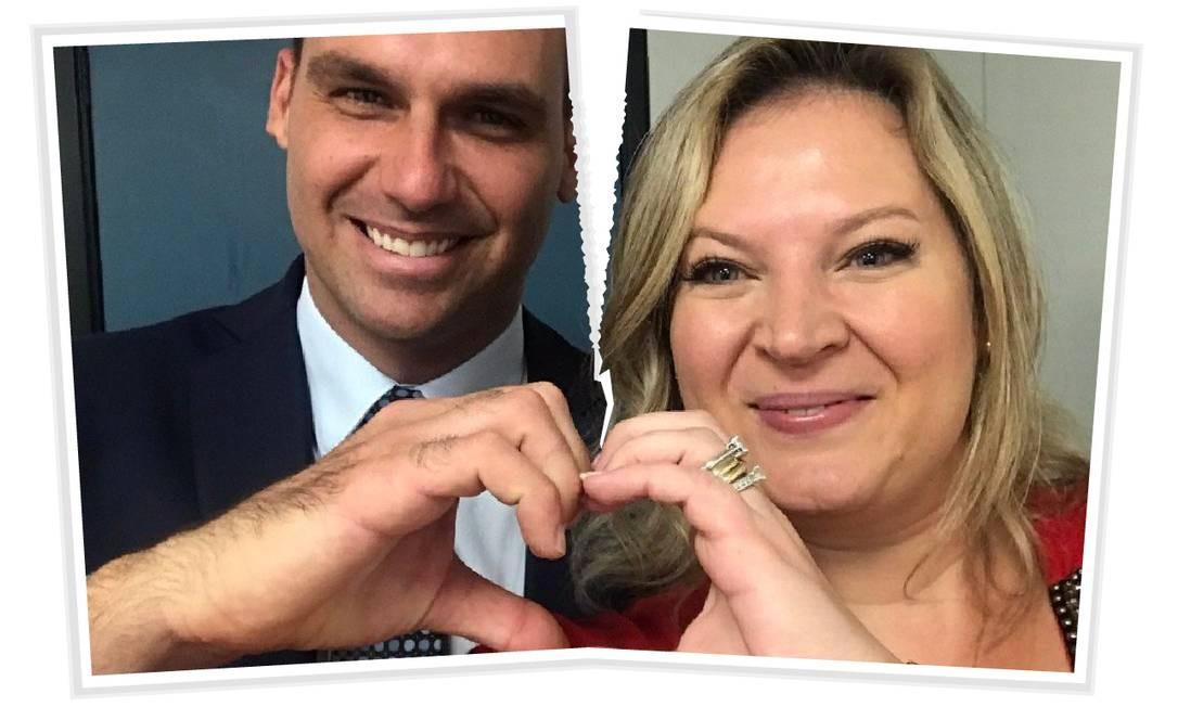 Joice e Eduardo voltam a trocar ofensas em rede social Foto: Editoria de Arte