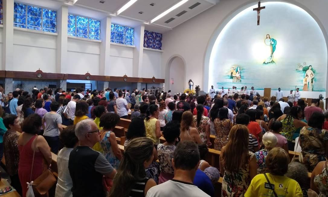 Celebração no santuário em homenagem a Santa Dulce dos Pobres Foto: Gustavo Maia