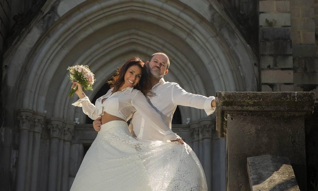 Luisa Costa e Aldo Oliveira em seu ensaio pré-wedding, em Petrópolis Foto: Ezio Philot