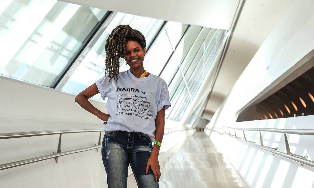 3º lugar: a jornalista Elena Wesley, de 28 anos, é a representante da Agência Narra e ficou em 3º lugar. A empresa reúne e capacita jovens de comunidades para produzir conteúdo sob a perspectiva dos moradores. Foto: Marco Sobral