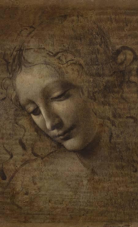 'Cabeça de mulher', ou 'La Scapigliata' (A descabelada). Pintura em óleo sobre madeira, realizada com vários pigmentos obtidos a partir de malaquita, ferro, minério de mercúrio. A obra, uma das mais de 160 na exposição que abre nesta quinta-feira no Louvre, foi emprestada pela Galeria Nacional de Parma, na Itália Foto: Divulgação/Galeria Nacional de Parma / Galeria Nacional de Parma
