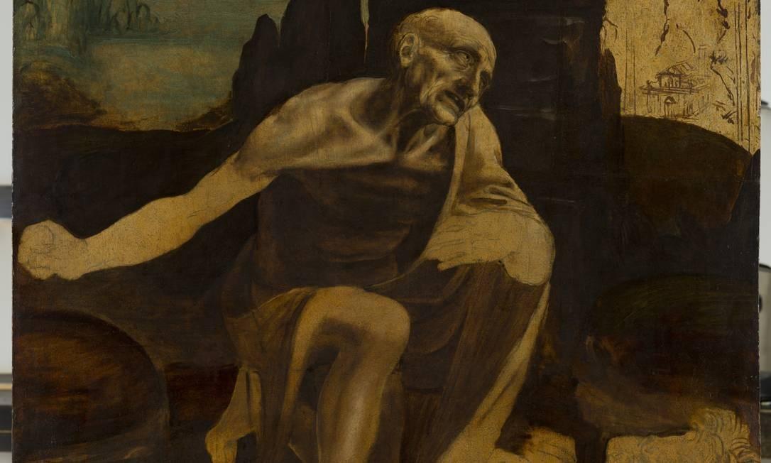 SC - Exposição Leonardo Da Vinci no Louvre SAN GIROLAMO. INV. 40337 Foto: Divulgação/ A.BRACCHETTI/Museu Vaticano / A.BRACCHETTI/Museu Vaticano