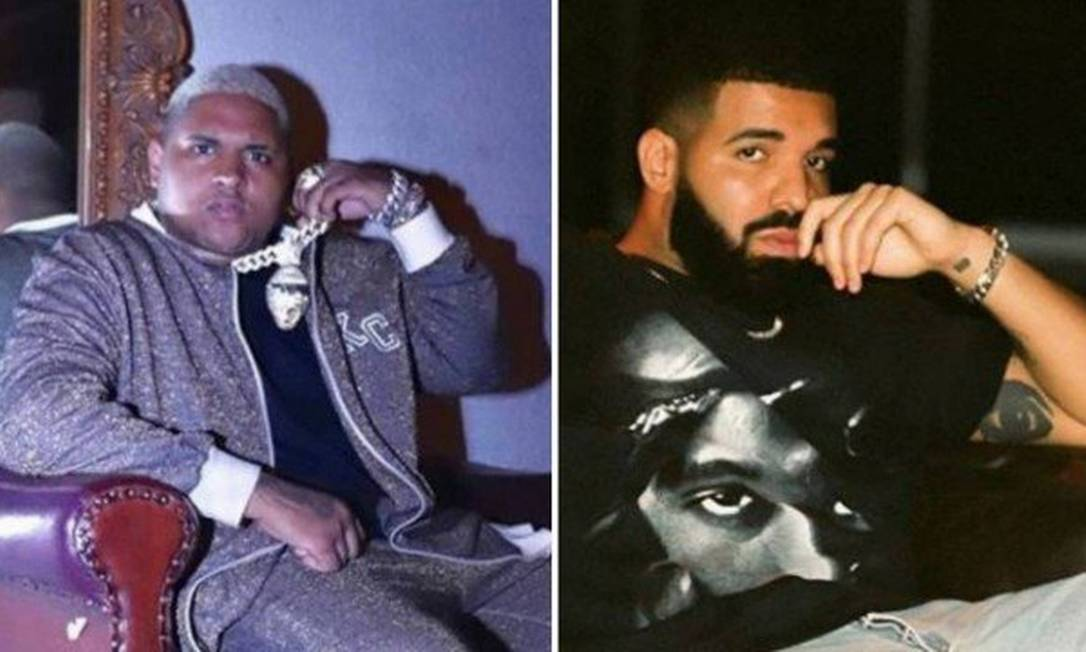 Kevin O Chris e Drake: funkeiro e rapper estão colaborando em versão em inglês de 'Ela é o tipo' Foto: Reprodução/Instagram