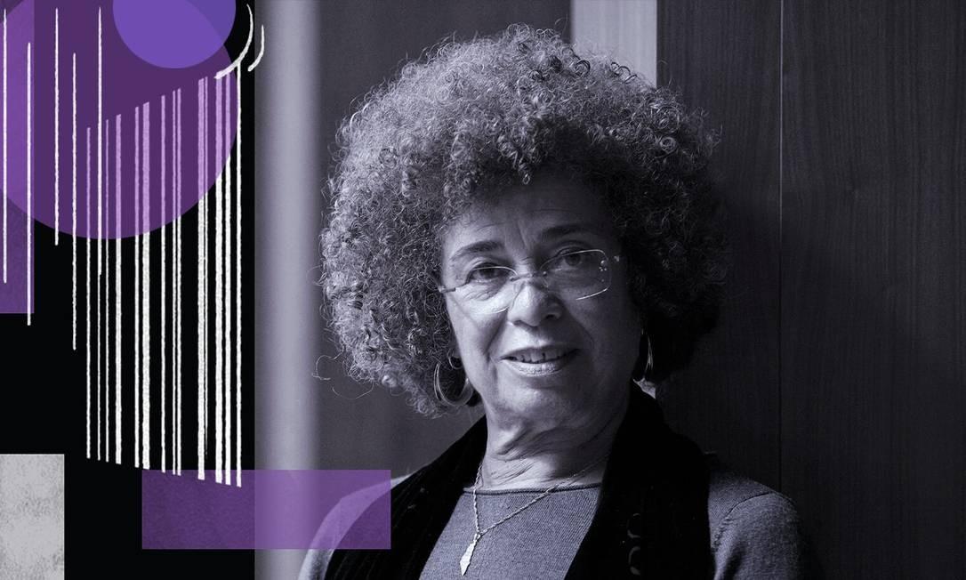 A filósofa Angela Davis, um dos principais nomes do feminismo negro Foto: Arte sobre foto de Boris Roessler/picture-alliance/dpa