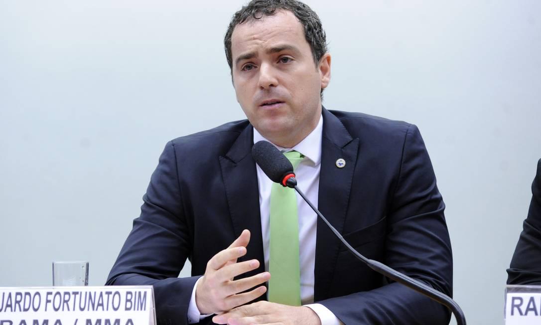 Presidente do Instituto Brasileiro do Meio Ambiente e dos Recursos Naturais, Eduardo Fortunato Bim Foto: GILMAR FELIX / Gilmar Felix/Câmara dos Deputados