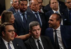 Bancada do PSL da Câmara, no começo do ano Foto: Daniel Marenco/Agência O Globo