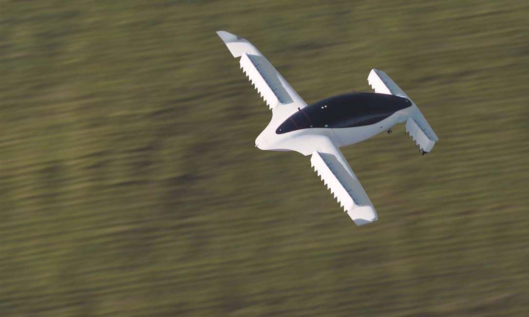 Protótipo de táxi voador da Lilium tem espaço para cinco tripulantes e asa fixa, para maior autonomia Foto: HANDOUT / REUTERS
