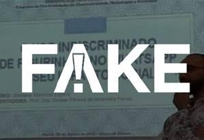 """Em sua página pessoal no Facebook, o aluno, Stefano Maximo Lopes, afirma que virou """"meme e fake news ao mesmo tempo"""" Foto: Reprodução Foto: Repropdução"""