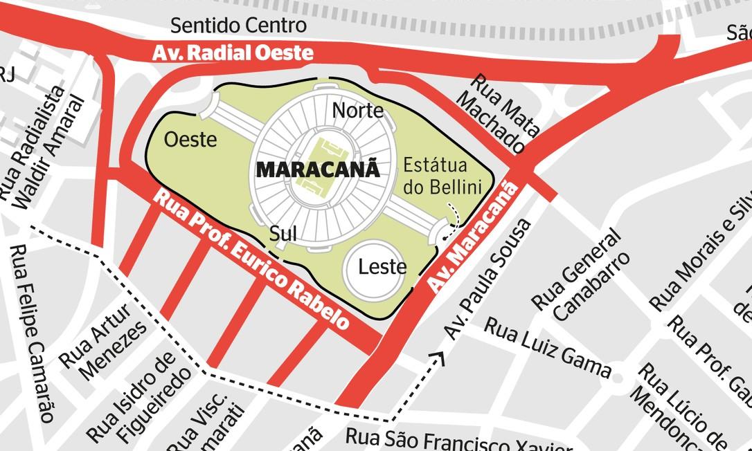 Esquema especial da semifinal da Libertadores fecha ruas e muda rotas