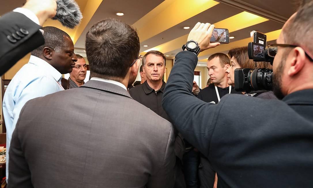 (Tóquio - Japão, 22/10/2019) Presidente da República, Jair Bolsonaro concede Coletiva à Imprensa após Café da Manhã no Hotel Imperial.\rFoto: José Dias/PR Foto: Divulgação