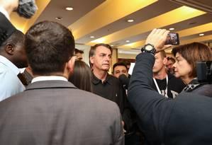Presidente Jair Bolsonaro questionou o processo de apuração na Bolívia e defendeu uma recontagem Foto: Agência O Globo