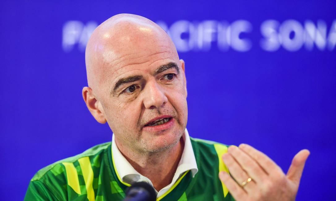 Presidente da Fifa, Gianni Infantino Foto: MUNIR UZ ZAMAN / AFP