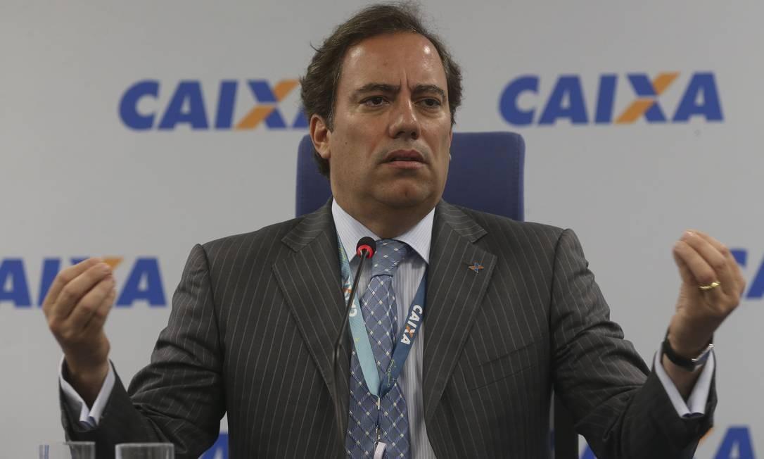 O presidente da Caixa, Pedro Guimarães Foto: Agência O Globo