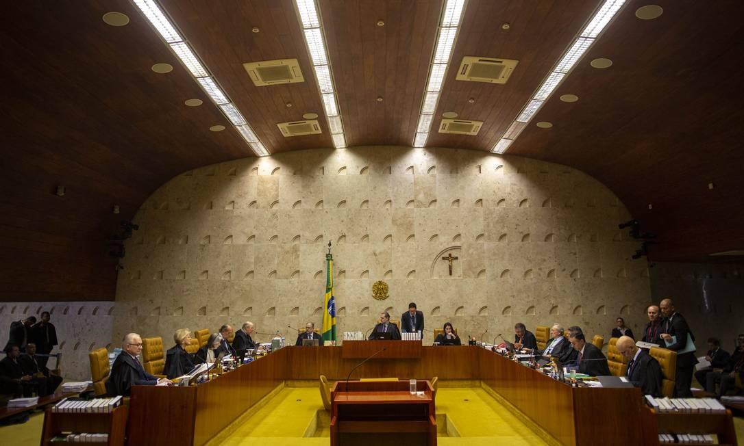 Supremo Tribunal Federal (STF) retoma a julgamento das ações que discutem a prisão em segunda instância Foto: Daniel Marenco / Agência O Globo