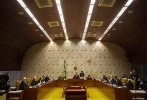 Plenário do STF Foto: Daniel Marenco / Agência O Globo