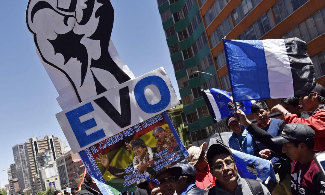 Apoiadores de Evo Morales tomam as ruas em La Paz Foto: AIZAR RALDES / AFP