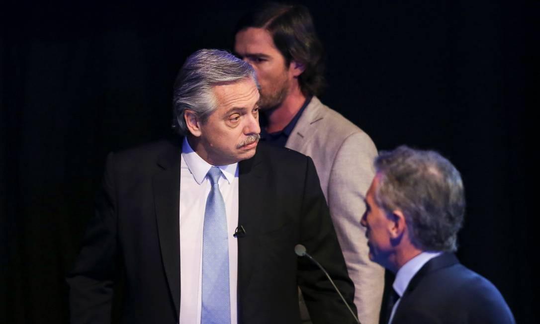 Favorito na eleição de domingo, Alberto Fernández já planeja estratégia diplomática para enfrentar a provável oposição do presidente Jair Bolsonaro a seu governo Foto: AGUSTIN MARCARIAN / REUTERS