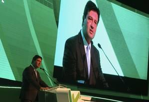 Em evento de empresas de planos de saúde, o ministro Luiz Henrique Mandetta criticou excesso de lesgilação para saúde suplementar Foto: Antonio Cruz/Agência Brasil