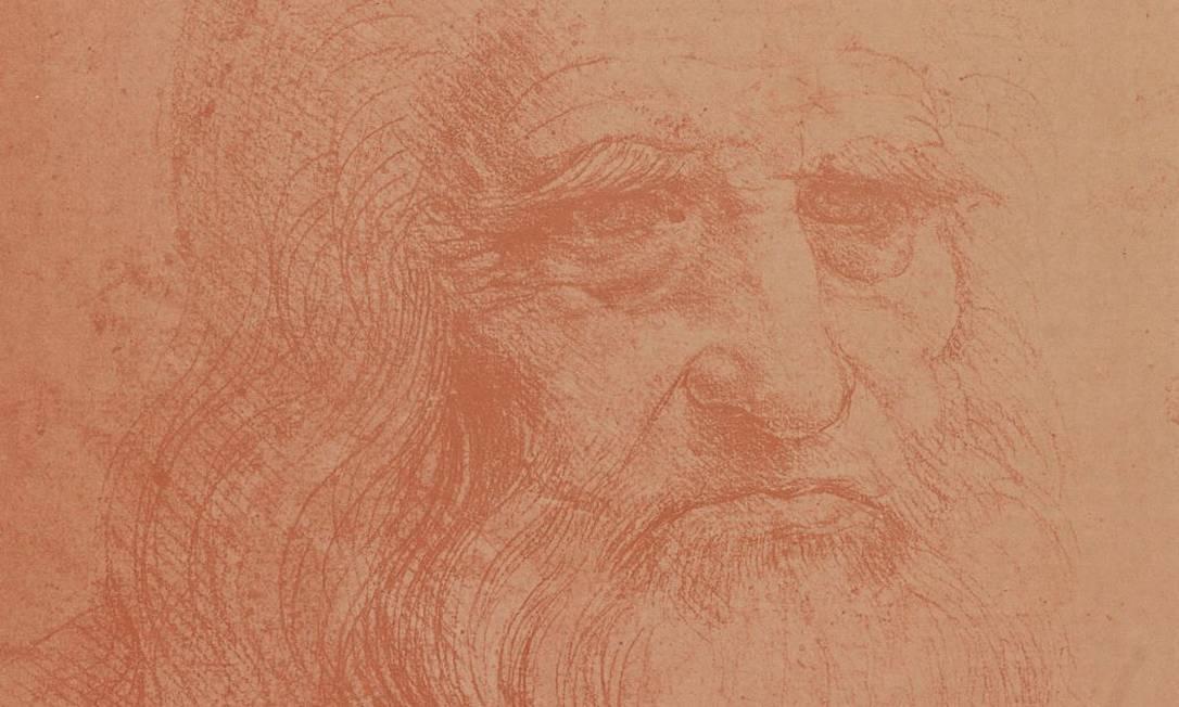 Autorretrato de Leonardo Da Vinci é uma das peças de acervo que a Biblioteca Nacional exibe a partir desta sexta-feira Foto: Divulgação