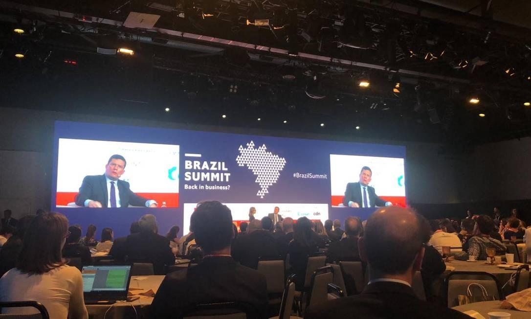 O ministro Sergio Moro no Brazil Summit Foto: Divulgação