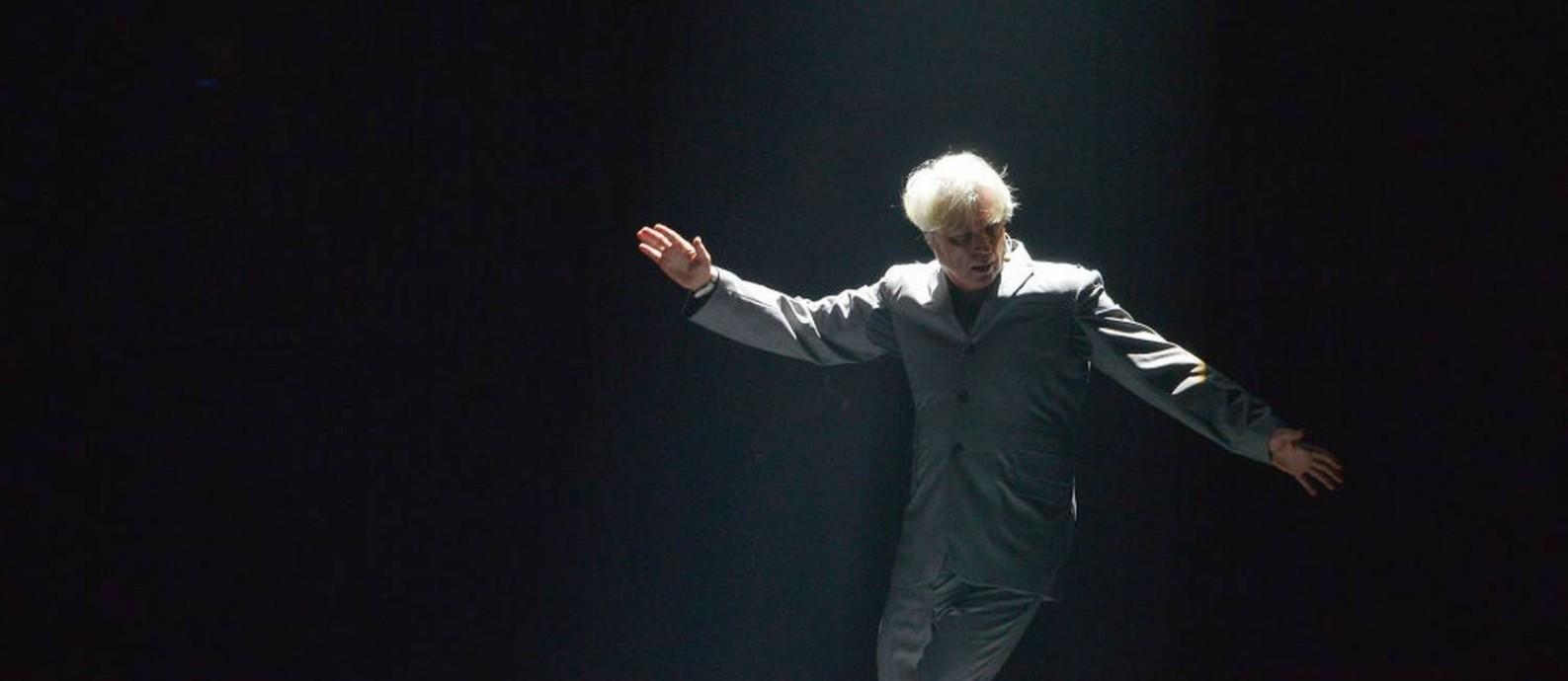 "David Byrne se apresenta na turnê europeia do ""American Utopia"" Foto: Jim Dyson / Getty Images"