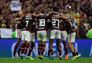 Flamengo vai fazer clássico contra o Vasco dez dias antes da final da Libertadores Foto: MAURO PIMENTEL / AFP